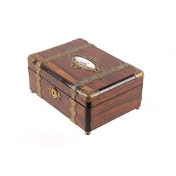 Early Sevres Porcelain Plague Dresser Jewelry Box