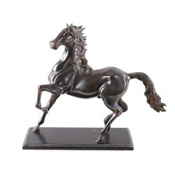 Brass Trotting Horse Sculpture & Base