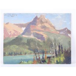 Carl Tolpo Hamlin Peak Original Oil Painting 1955