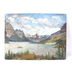 Carl Tolpo St. Marys Lake Oil Painting 1948