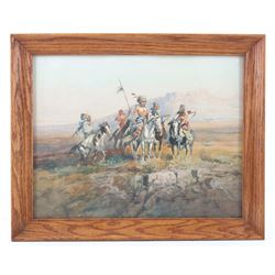 Charles M. Russell Indian Scouts Framed Print