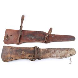 Pair of Western Leather Rifle Saddle Scabbards