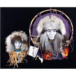 Moon Phase Mask Art By White Buffalo Woman