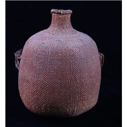 Piute Indian Hand Woven Sapped Water Jug