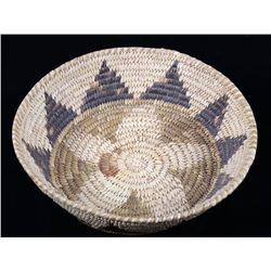 Papago Native American Hand Woven Coil Basket