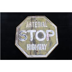 Embossed Multi-Colored Arterial Highway Stop Sign
