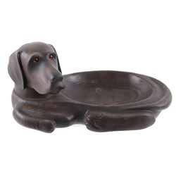 Big Sky Carvers Wood Style Chocolate Labrador Bowl
