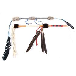 Native American Style Decorated Dance Sticks