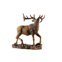Bugling Bull Elk Resin Sculpture by Attila's