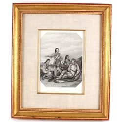 The Qillenay Indians Print by J. Brown