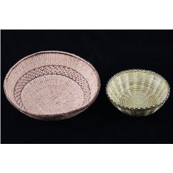 Papago Indian Hand Woven Coil Baskets