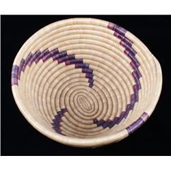 Mid 1900's Papago Indian Hand Woven Coil Basket