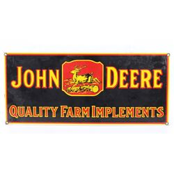 John Deere Porcelain Reproduction Advertising Sign