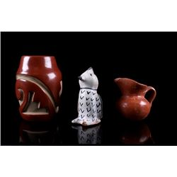 Acoma Pueblo Pottery Vessels & Effigy Collection