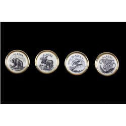 Alaskan Scrimshaw Brass Button Collection C. 1950s