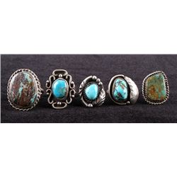 Navajo Turquoise & Sterling Silver Ring Collection