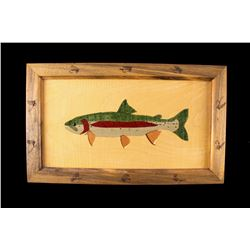 2013 Hand Carved Trout Maple Wood Art by PAU