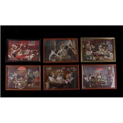 Collection of C.M Coolidge Dogs Playing Poker Art