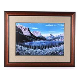 """St. Mary Lake"" Framed Print By Turning Bear Mason"
