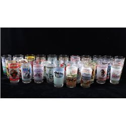 Collection of Kentucky Derby Commemorative Glasses