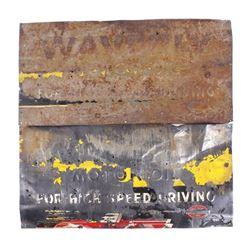 Waverly Motor Oil Stamped Steel Advertising Signs