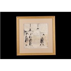 """J.R. Williams Framed 1930 """"Out Our Way Cartoon"""""""
