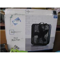 MAINSTAYS BLACK BOX FAN