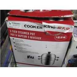 COOKER KING 3 TIER STEAMER POT