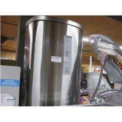 STAINLESS STEEL 45L TRASH CAN DENTED