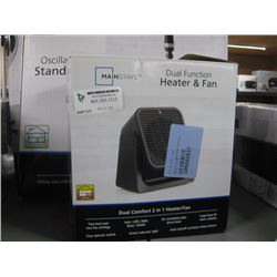 MAINSTAYS DUAL FUNCTION HEATER AND FAN