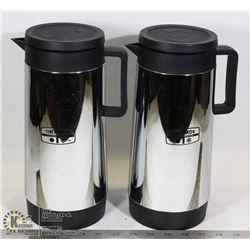 SET OF (2) 1 LITRE THERMOS POURING