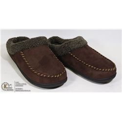 ULTRA IDEAS BROWN MENS SLIPPERS SIZE 9-10