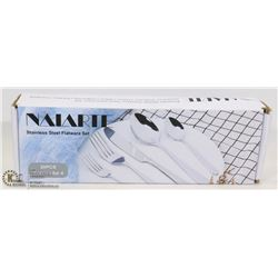 NAIARTE STAINLESS STEEL FLATWARE SET (SERVICE FOR)