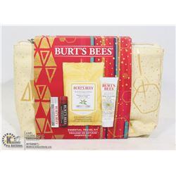 NEW BURT'S BEES ESSENTIAL TRAVEL KIT