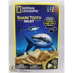 NEW NATIONAL GEOGRAPHIC SHARK TOOTH DIG KIT
