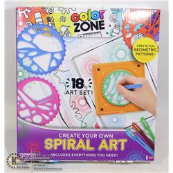 NEW COLOR ZONE 18PC CREATE YOUR OWN SPIRAL ART