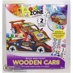 NEW COLOR ZONE BUILD AND PAINT WOODEN CARS ART