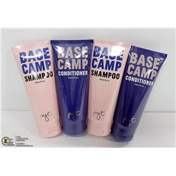 LOT WITH 4 150ML BASECAMP SHAMPOO AND CONDITIONER