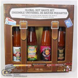NEW 4PC GLOBAL HOT SAUCE SET