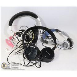 LARGE BAG OF STORAGE LOCKER FIND HEADPHONES