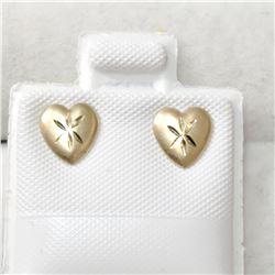 14K YELLOW GOLD HEART SHAPED WITH DIAMOND