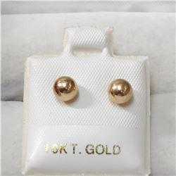 10K YELLOW GOLD PEARLS  EARRINGS