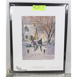 BOSTON BRUINS GERRY CHEEVERS SIGNED ART PRINT