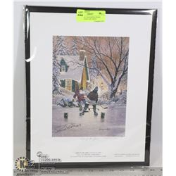 MONTREAL CANADIENS PIERRE PILOTE SIGNED ART PRINT