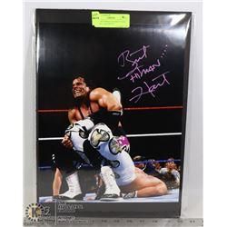 WWE HOF WRESTLER BRETT HART SIGNED 11X14 PHOTO