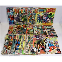 LOT OF OVER 30 MARVEL COMICS INCLUDING: CAPTAIN