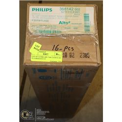 LOT OF 16 PHILLIPS 25W F25T8/TL 835 FLUORESCENT FT