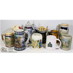 ESTATE BOX OF COLLECTIBLE STEINS