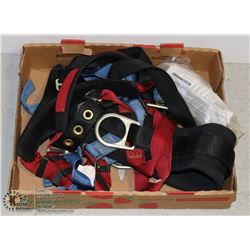 FLAT CONTAINING A HARNESS(EXPIRED) & SAFETY ITEMS