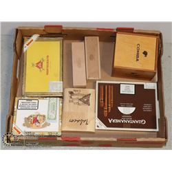 FLAT OF CIGAR BOXES, CIGAR HOLDERS